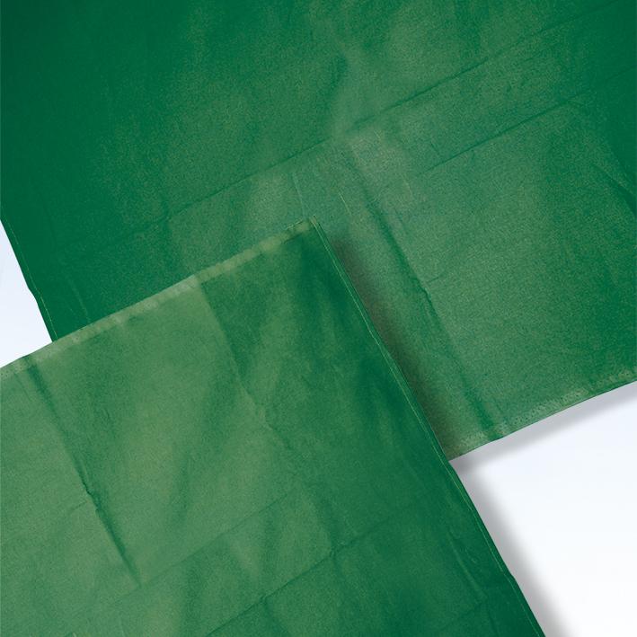 Abdecktuch 100 x 100 cm forstgrün, 100 % Baumwolle