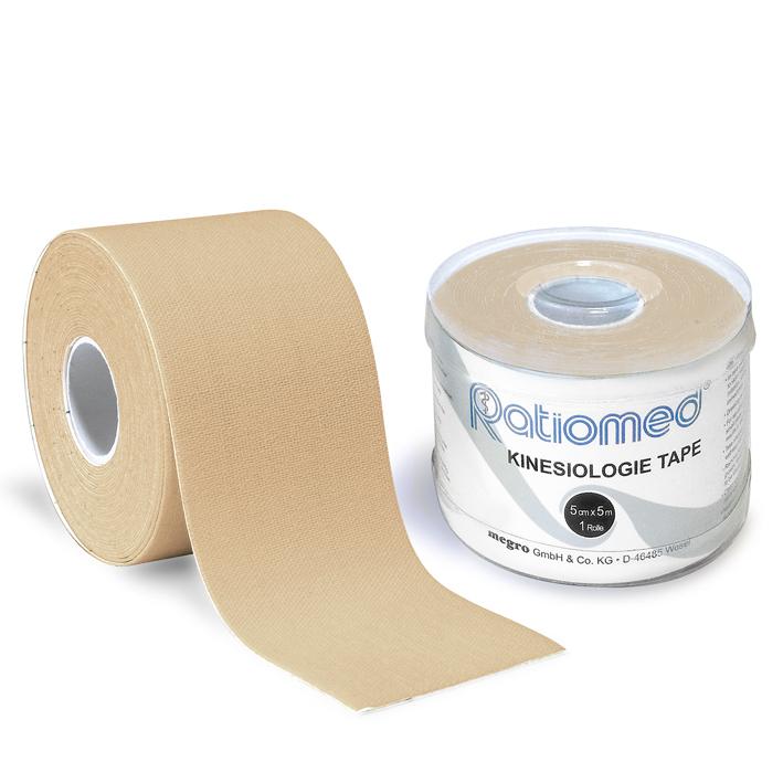 Kinesiologie-Tape ratiomed, 5 m x 5 cm, beige (1 Rl.)