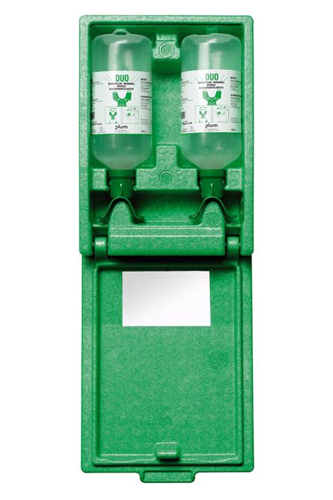 Plum Augenspülstation Duo mit 2 Flaschen in Wandbox mit Spiegel