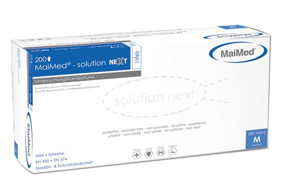 Nitrilhandschuhe solution next, white, Gr. XL, unsteril, puderfrei, 200 Stk.